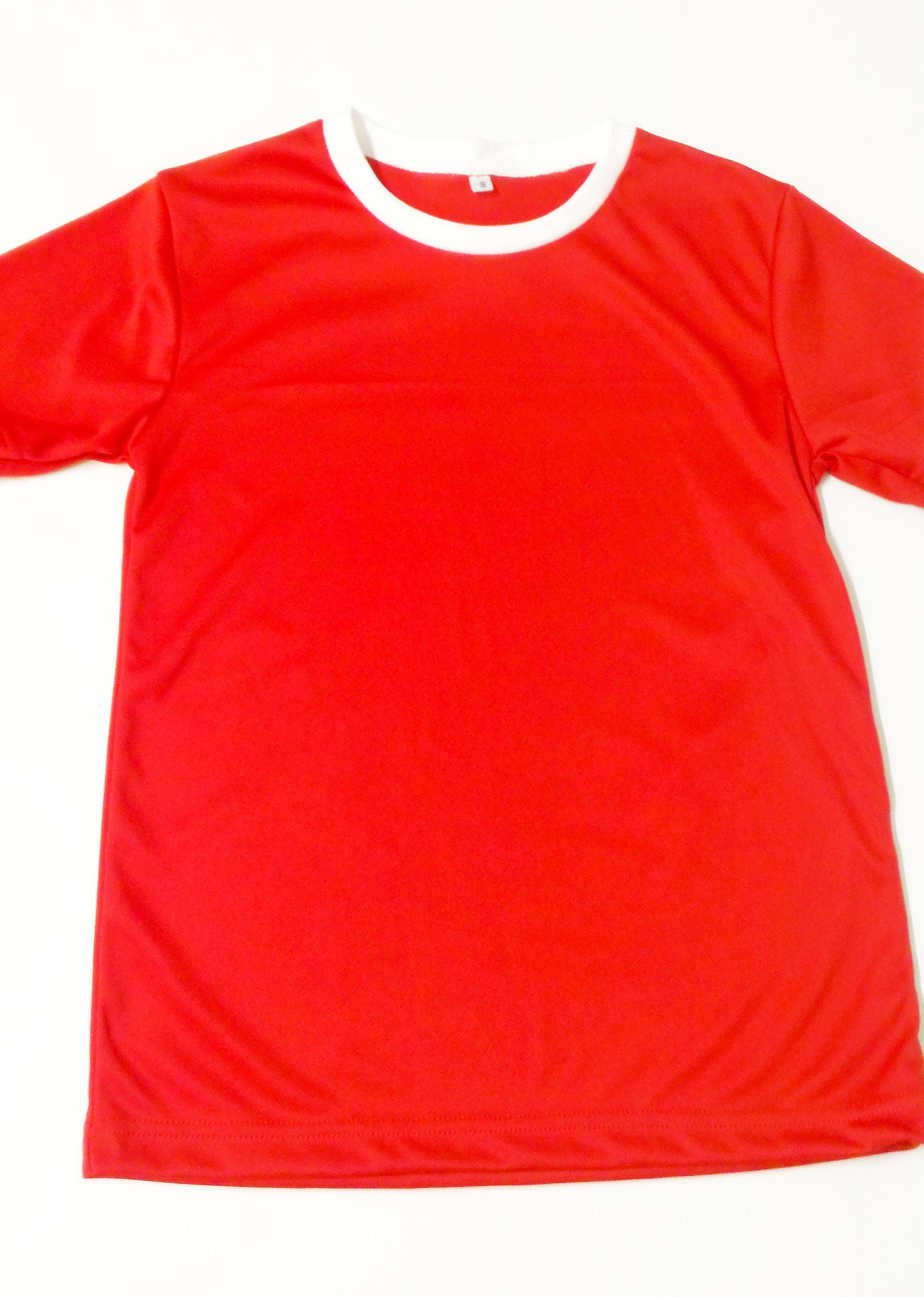 ปลีกตัวละ 70 บาท ไซส์ L รอบอก 38 นิ้ว เสื้อกีฬาสีแดง เสื้อกีฬาเปล่าผู้ใหญ่ เสื้อเปล่า