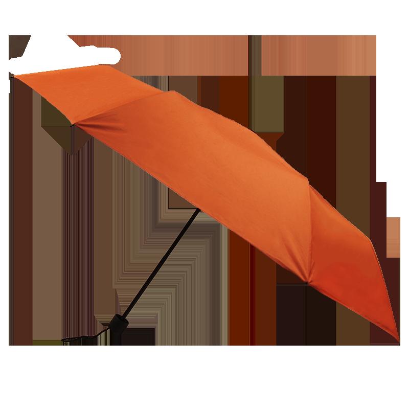 Silver Coating Folding ร่มพับ3ตอนเคลือบเงินป้องกันรังสียูวี - สีส้ม