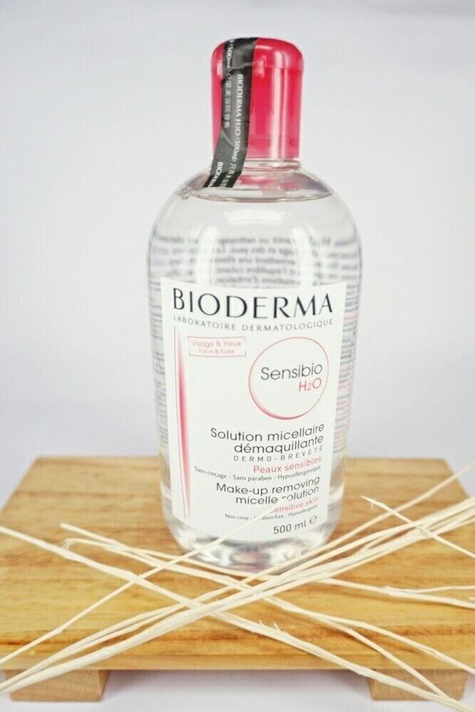 #Bioderma Crealine(Sensibo) H2O Solution Micellaire 500ml.(ฝาชมพู)