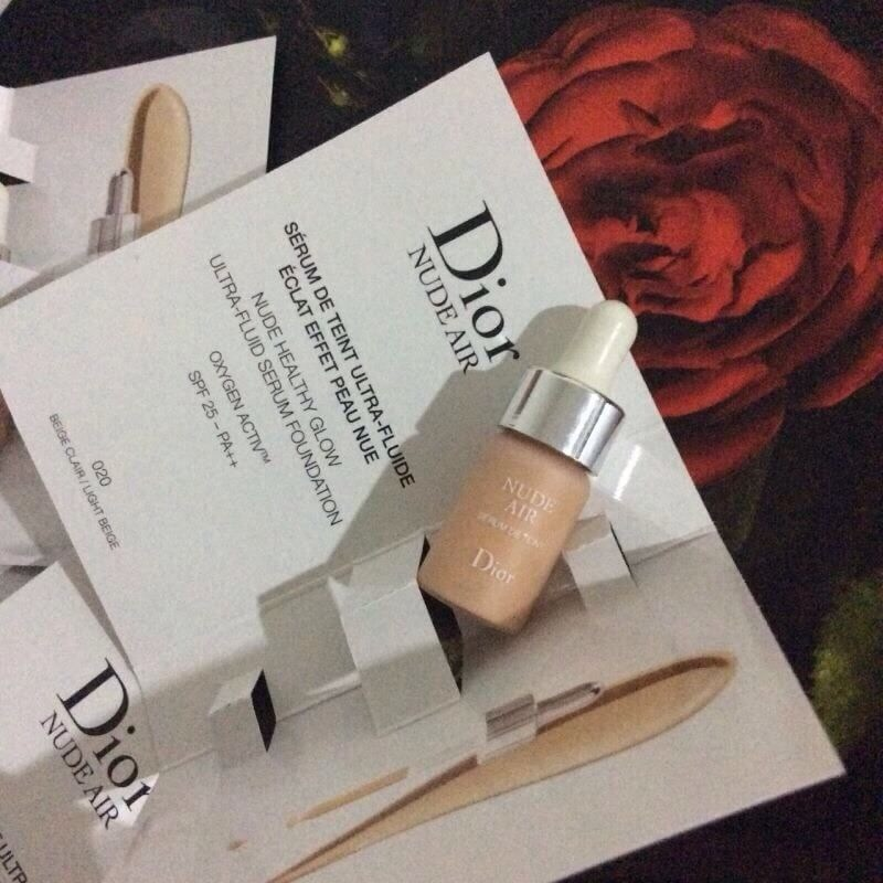 #Diorskin Nude Air Serum Foundation SPF25 pa++ Oxygen Activ เบอร์ 020 Beige Clair / Light Beige ขนาด 3ml