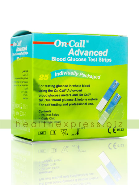 On Call Advanced Blook Glucose Test Strips 25 ชิ้น