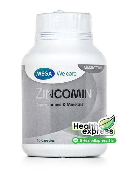 Mega We Care Zincomin เมก้า วีแคร์ ซินโคมิน บรรจุ 60 แคปซูล