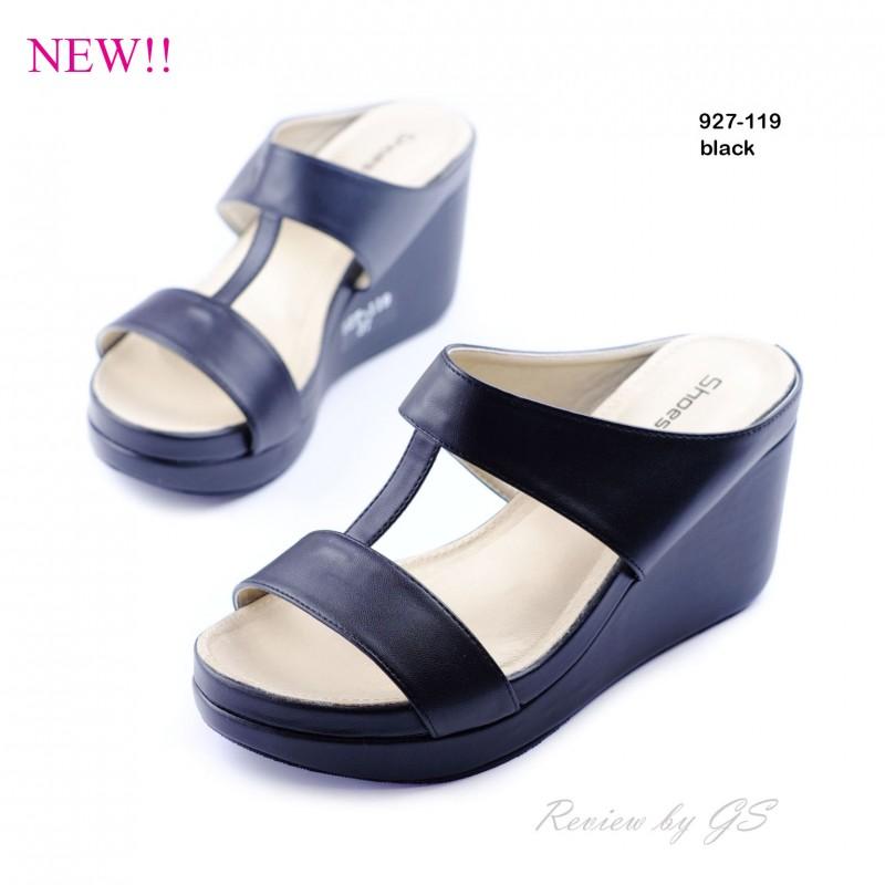 พร้อมส่ง รองเท้าลำลอง แบบสวม 927-119F4-BLK [สีดำ]