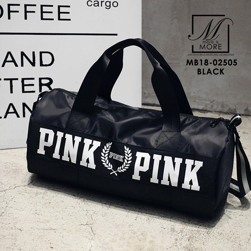 กระเป๋าแฟชั่นงานนำเข้าทรงใหญ่ใบเดียวตอบโจทย์ MB18-02505-BLK (สีดำ)