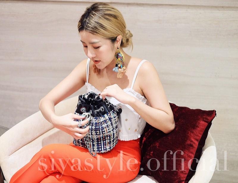 กระเป๋าสะพายแฟชั่น กระเป๋าสะพายข้างผู้หญิง Tweed Bag []