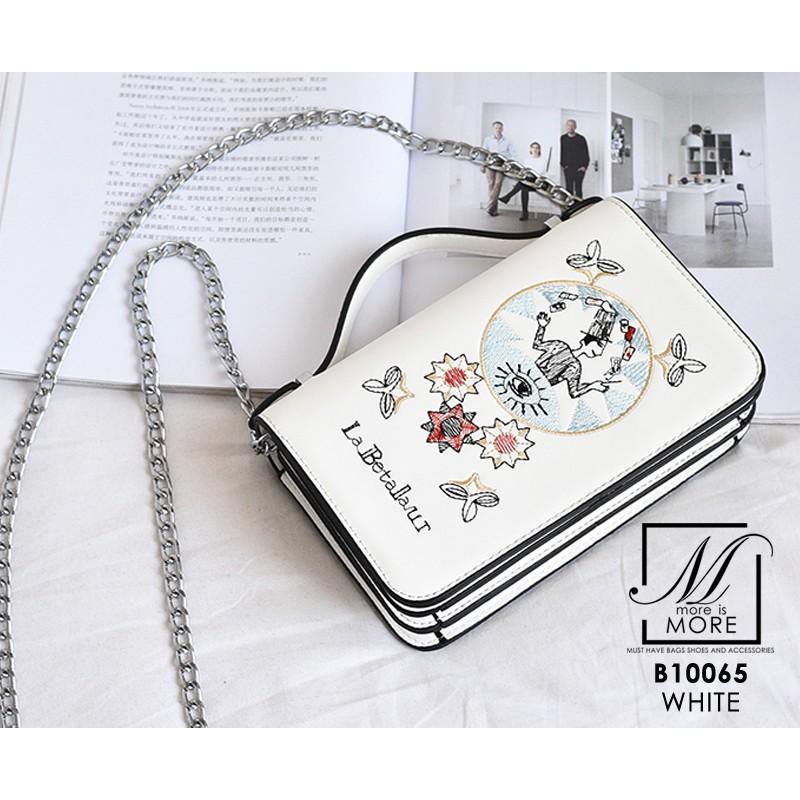 กระเป๋าแฟชั่นนำเข้าแบรนด์ BEIBAOBAO B10065-WHT (สีขาว)