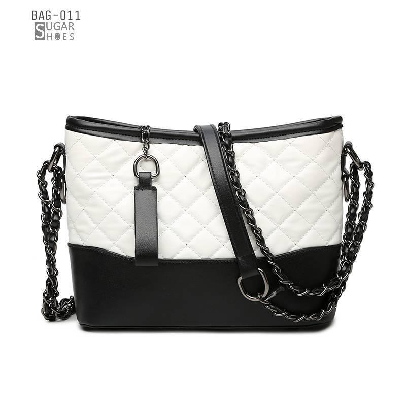 พร้อมส่ง กระเป๋าสะพายผู้หญิง-BAG-011 [สีขาว]