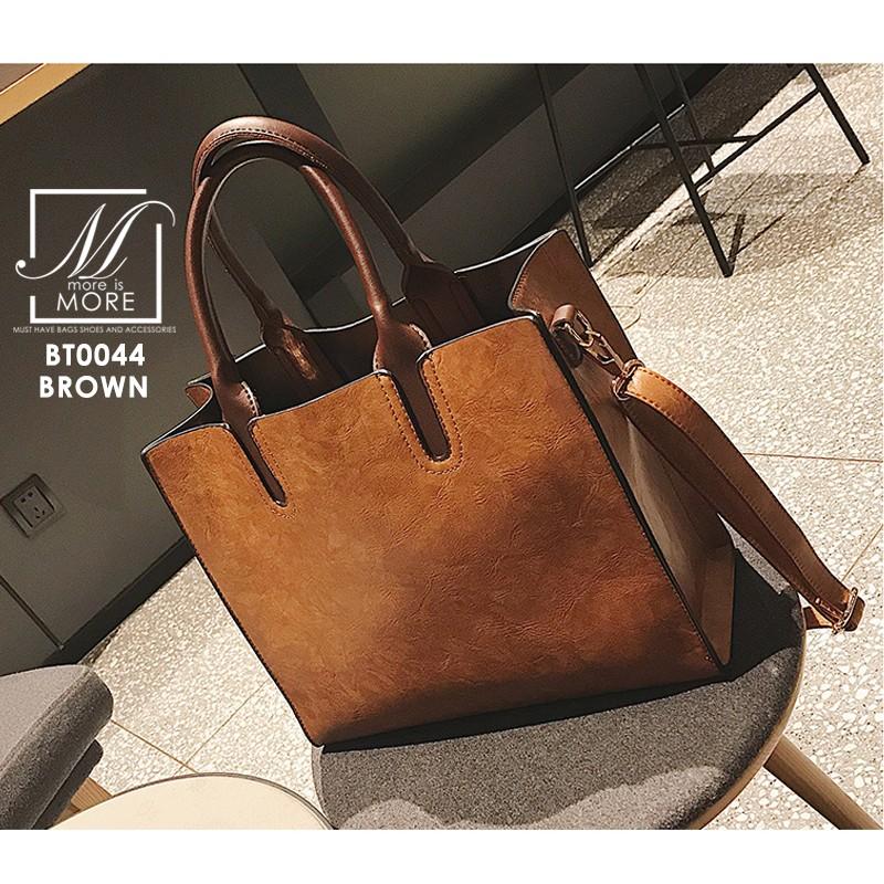 กระเป๋าสะพายกระเป๋าถือ แบรนด์ BEIBAOBAO แท้ ทรงสี่เหลี่ยมสุดเท่ห์ BT0044-BRO (สีน้ำตาล)