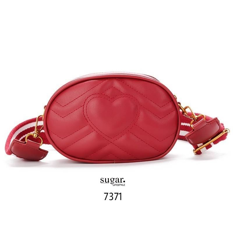 กระเป๋าคาดอก หรือคาดเอวดีไซน์สุดเท่ห์ 7371 (สีแดง)