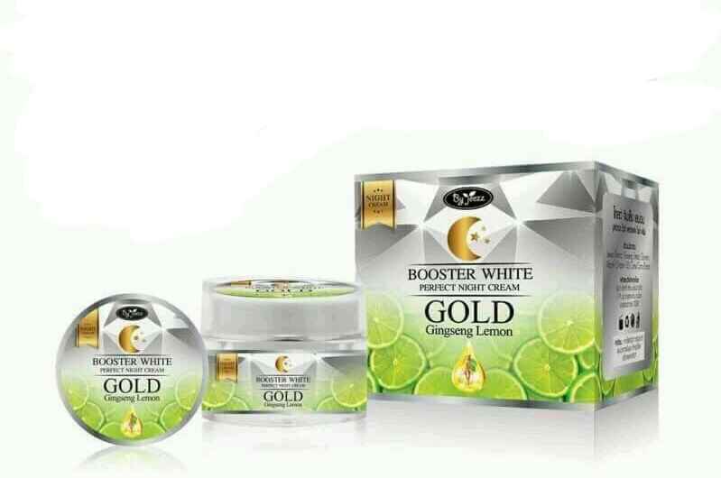 Gold ginseng lemon booster white perfect night cream