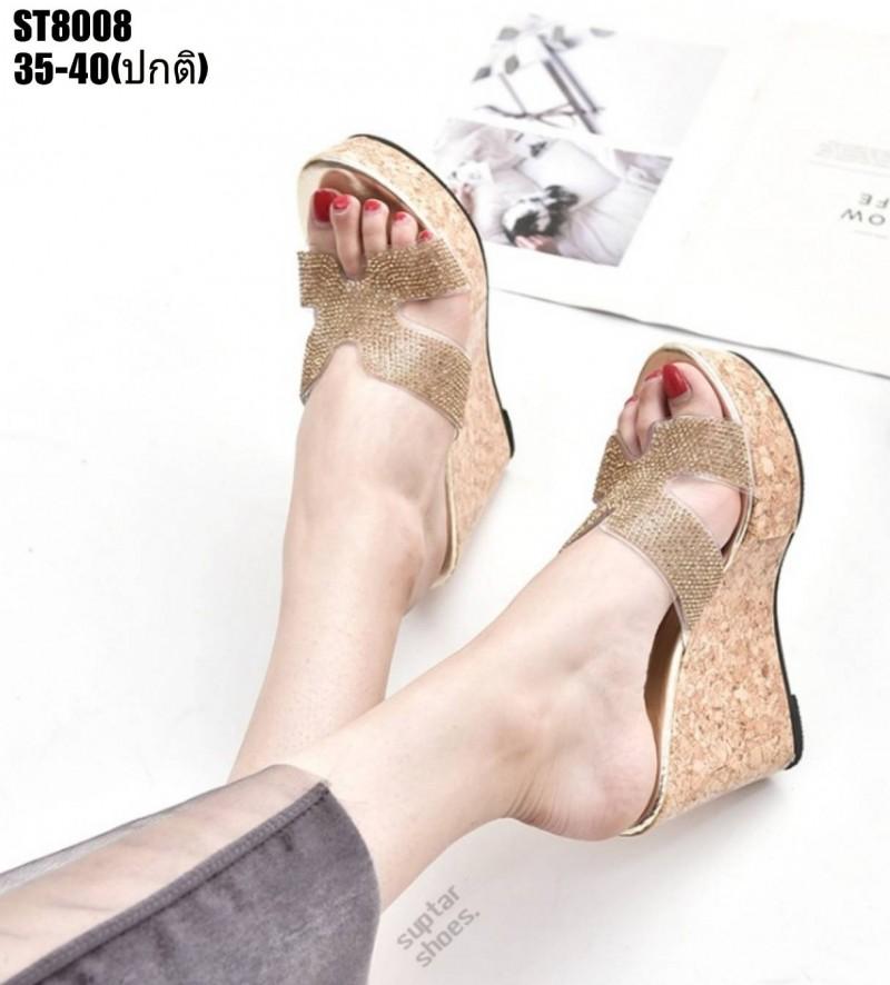 รองเท้าสวมส้นเตารีดสีทอง LB-ST8008-GLD