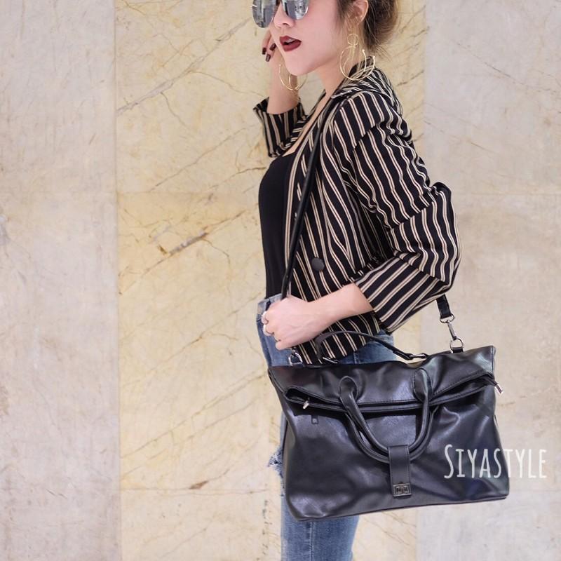 พร้อมส่ง กระเป๋าสะพายข้างผู้หญิง Working bag [สีดำ]
