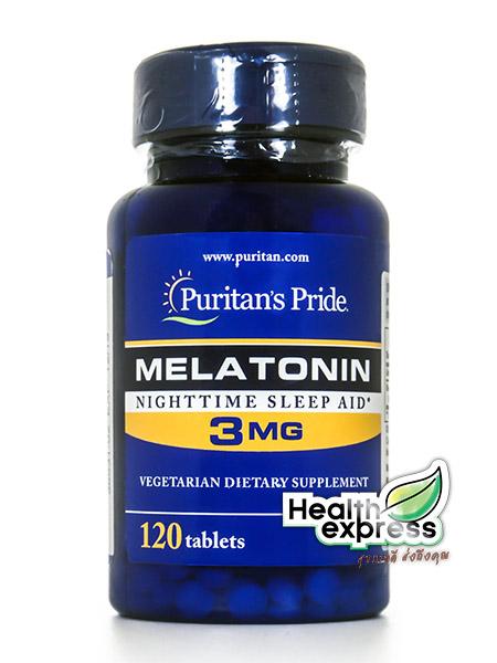 Puritan's Pride Melatonin 3 mg. พูริแทน ไพร์ด เมลาโทนิน 3 มก. 120 เม็ด