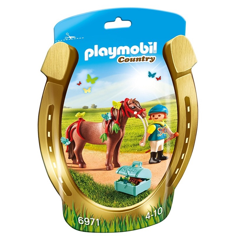 PLAYMOBIL 6971 Groomer with Butterfly Pony