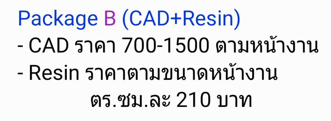 Package B (CAD+Resin/WAX)