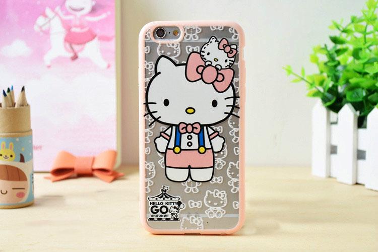 ลายคิตตี้ (ขอบยางหนา) - iPhone6 / 6S