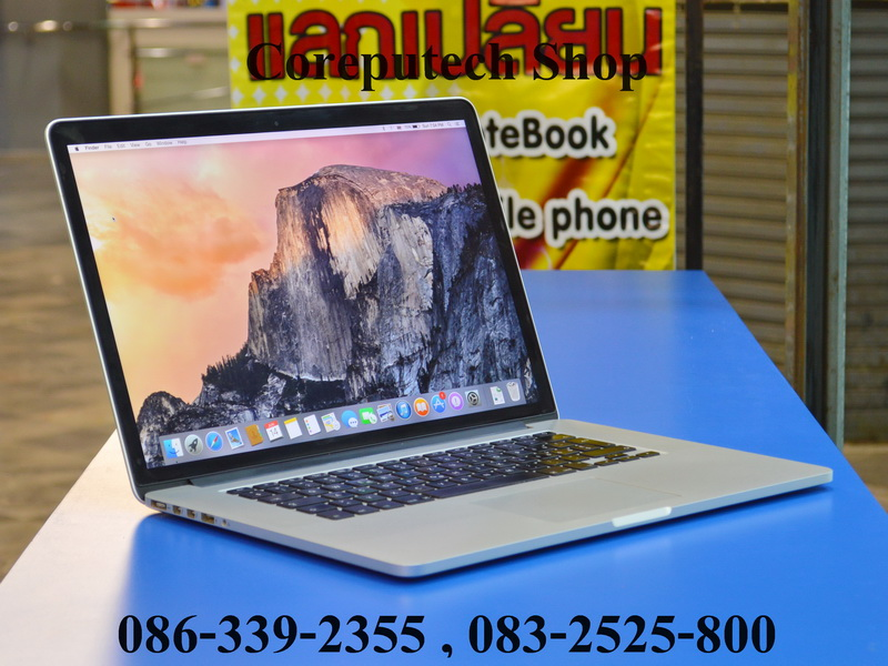 MacBook Pro Retina 15-inch Core i7 GEN3 2.4 GHz.Model Early 2013 สภาพสวยๆ เครื่องนอก SSD 256GB/RAM 8GB แรงสุดๆ จัดไป 40,900 บาท