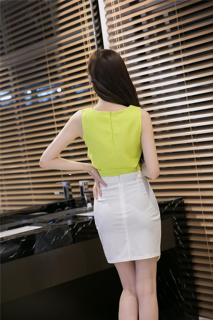 ชุดเซ็ทแฟชั่นเกาหลีเสื้อกระโปรง