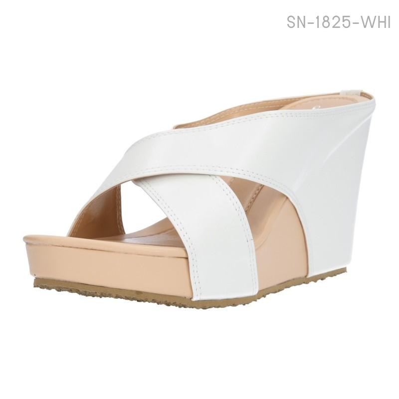 รองเท้าแตะส้นเตารีด เปิดส้น (สีขาว )