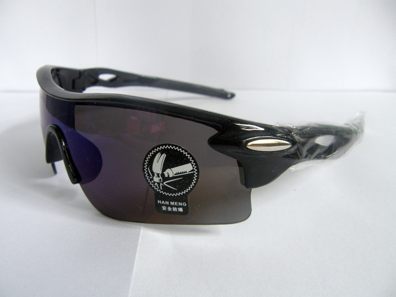 Cycling Sports Glasses uv400 กรอบสีดำ เลนส์ ดำ เหลือบ ฟ้า