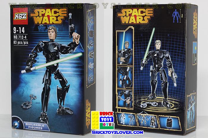 เลโก้จีน KSZ 712-4 ฟิกเกอร์ Luke Skywalker โมเดล Star Wars