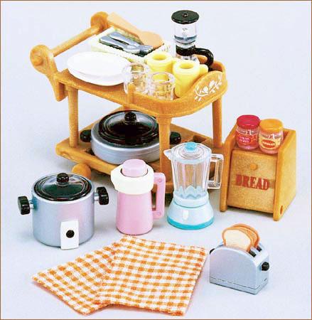 ซิลวาเนียน ชุดของใช้ในครัว Sylvanian Families Kitchen Cookware Set