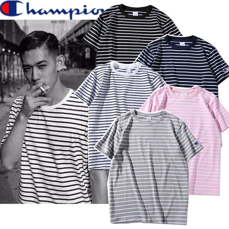 เสื้อ Champion T-Shirt Simple Stripe