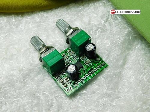 แอมป์จิ๋ว Class D สเตอริโอ 2.1CH ขนาด 11 วัตต์ ( 3w+3w) พร้อมซับวูฟเฟอร์ 5w