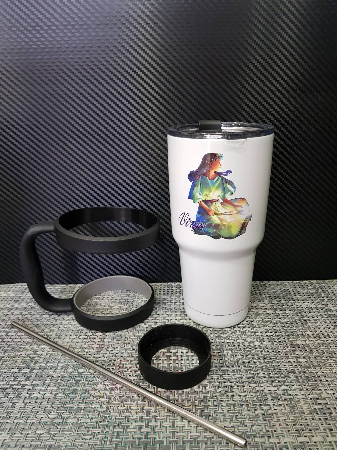 ชุดแก้วเยติ 30 ออนซ์ พื้นสีขาว ราศีกันย์