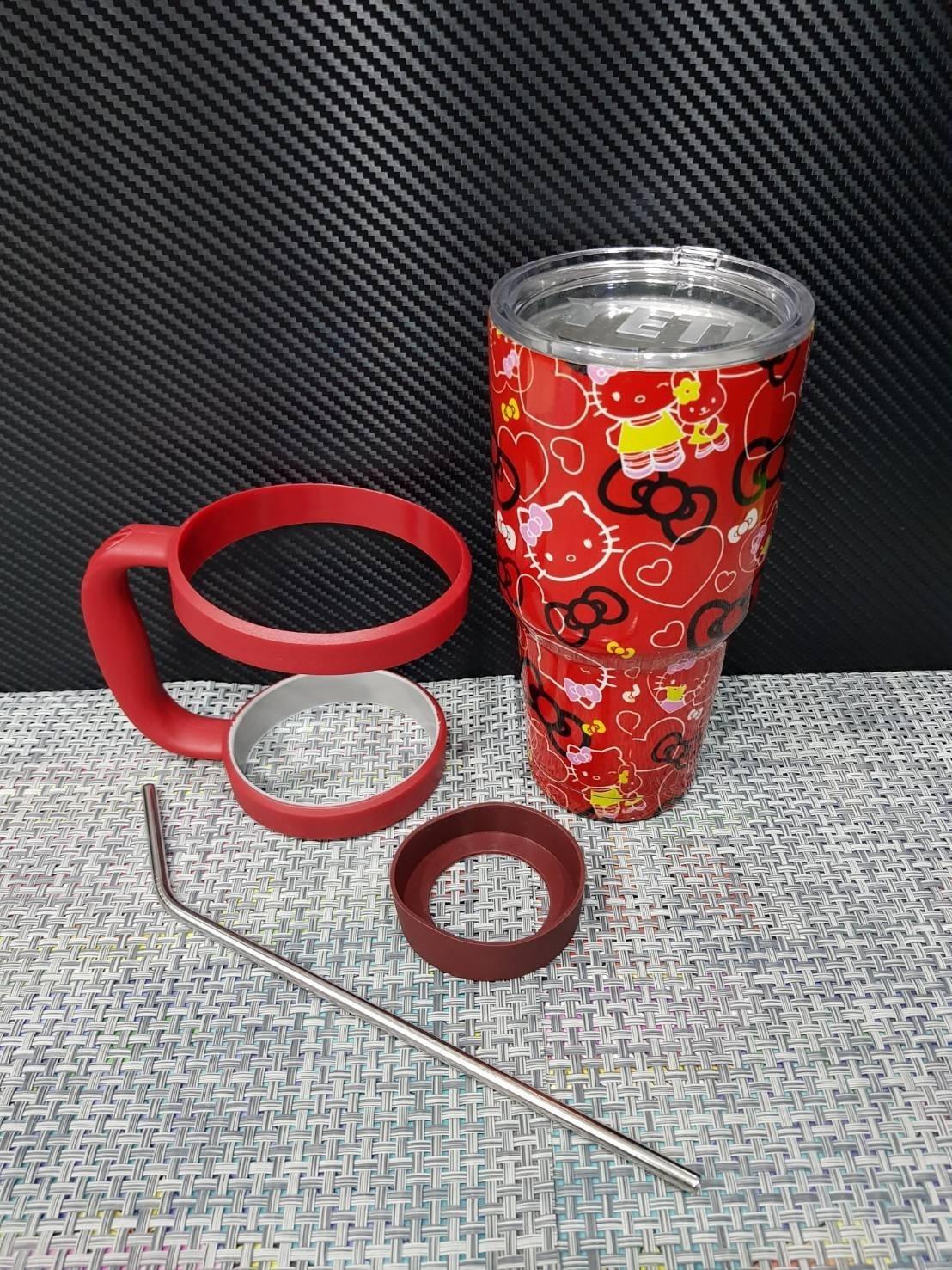 ชุดแก้วเยติ 30 ออนซ์ พื้นสีแดง ลาย คิตตี้