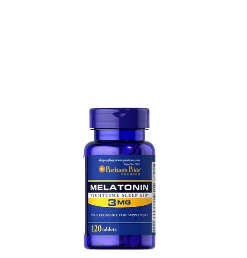 **หมดค่ะ**Puritan's Pride Melatonin 3 mg 120 Tablets วิตามินคลายเครียด ช่วยให้นอนหลับสบาย หลับได้นานขึ้น จากอเมริกาค่ะ