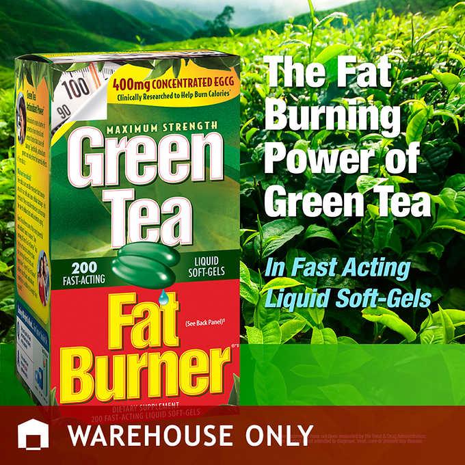 Green Tea Fat Burner 200 เม็ด ควบคุมน้ำหนักและเผาผลาญไขมันส่วนเกินให้หมดไปค่ะ