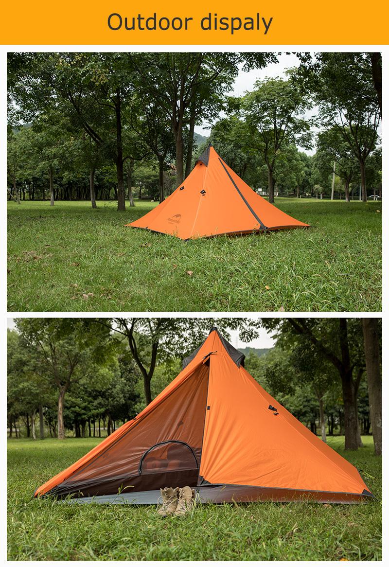 เต๊นท์พิระมิด Naturehike trap tent-spire 1 Man