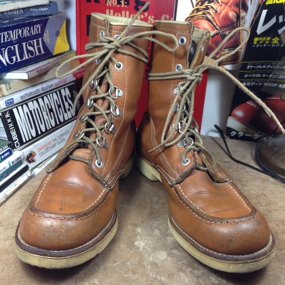 Vintage work boot made in USA size 7/25cm ปีลึก