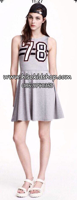 1107 H&M Dress - Grey ขนาด 155