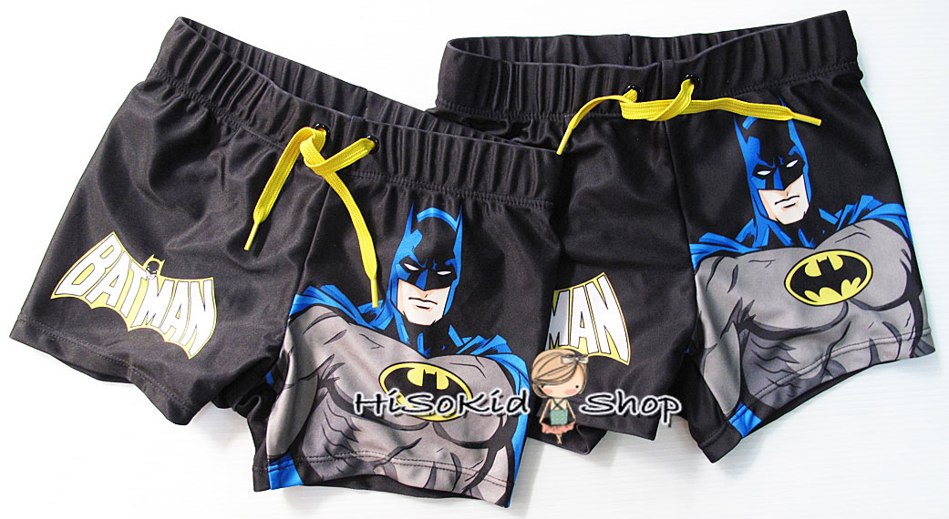 1027 H&M Swimming Trunks with print - Batman ขนาด 4-6,8-10 ปี