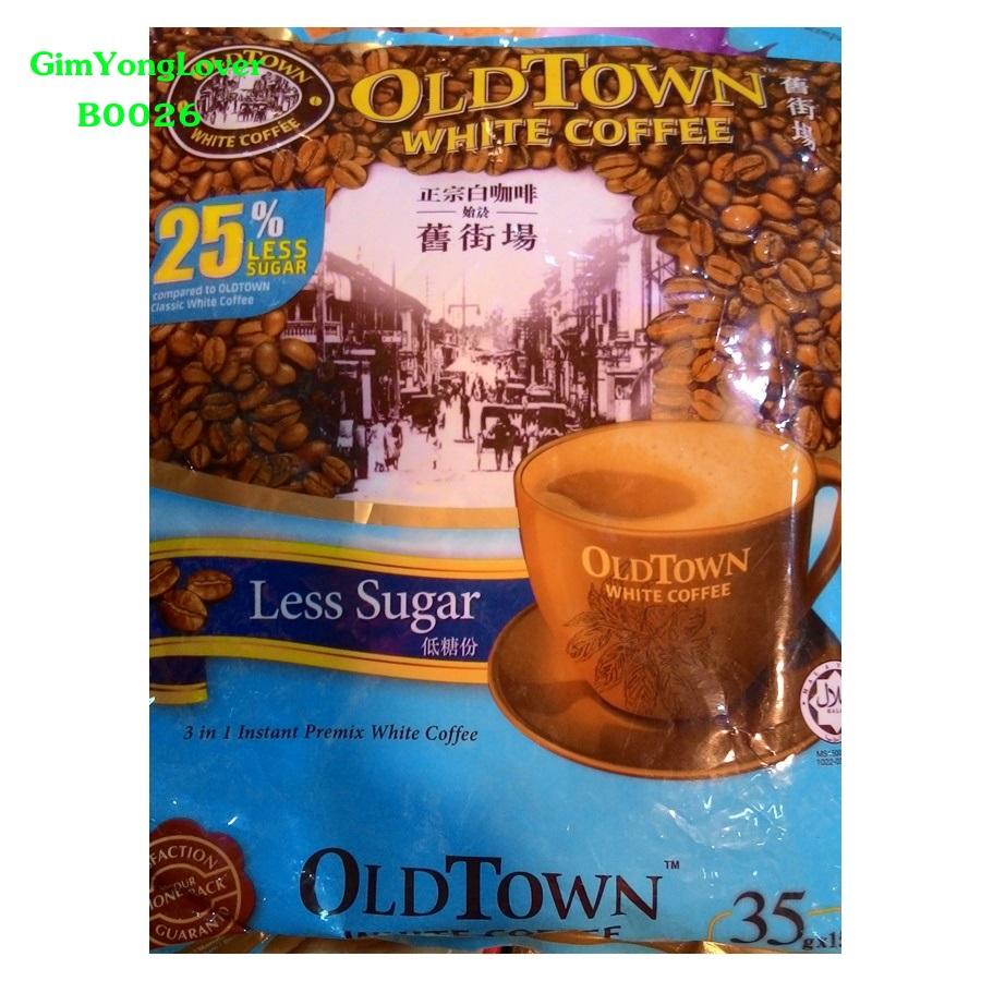 โอลด์ทาวน์ กาแฟสำเร็จรูป น้ำตาลน้อย 3in1 (OLDTOWN Less Sugar White Coffee)