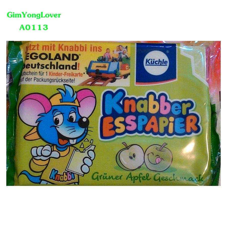 Knabber Esspapier ขนมกระดาษ รสแอปเปิ้ล