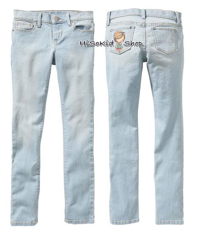 1197 Old Navy Light-Wash Super Skinny Jeans for Girls ขนาด 8,10,12,14 ปี