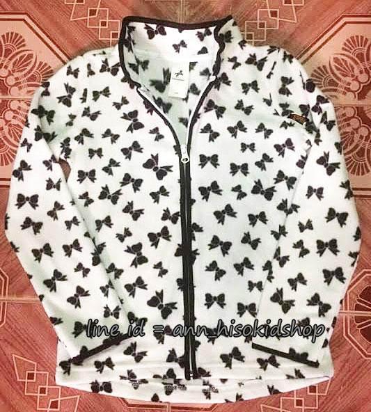 1716 Palomino Fleece Jacket - White/Black ขนาด 128,134,140