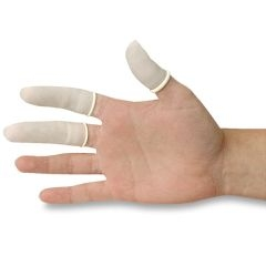 ถุงนิ้ว สีขาว ไม่มีแป้ง ถุงละ 1,440 ชิ้น