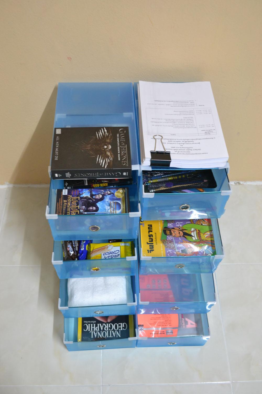 """กล่องอเนกประสงค์ แบบลิ้นชัก ใส่ได้สูงสุดไซส์ 46 สีน้ำเงิน """"Big Size"""" (8 กล่อง)"""