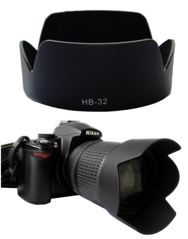 Nikon Lens Hood เทียบเท่า HB-32 for Nikkor 18-70 18-105 18-135 18-140