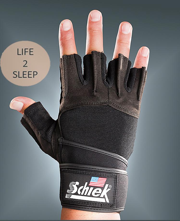 ถุงมือฟิตเนส Schiek สีดำ ไซส์ L