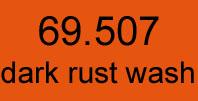 mecha vallejo 69. 507 dark rust wash 17 ml.