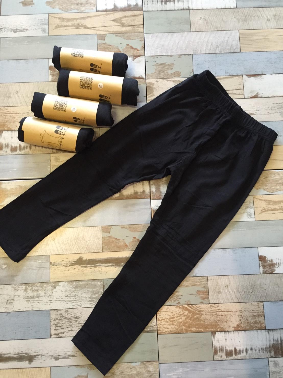 เลกกิ้งสีดำล้วน ผ้ายืด contton แพค 5 ตัว ขนาด 90-130