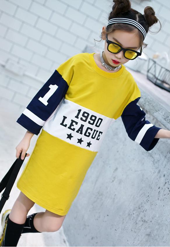 เสื้อยาว สีเหลือง แพ็ค 5 ชุด ไซส์ 120-130-140-150-160 (เลือกไซส์ได้)