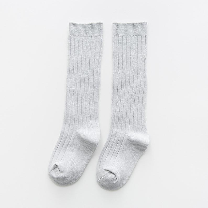 ถุงเท้ายาว สีเทา แพ็ค 10 คู่ ไซส์ M (ประมาณ 2-4 ปี)