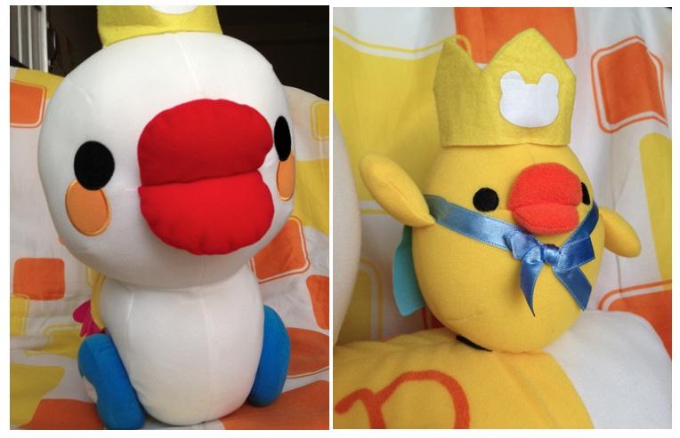 ตุ๊กตาเป็ดยักษ์ ducking car of rilakkuma toys