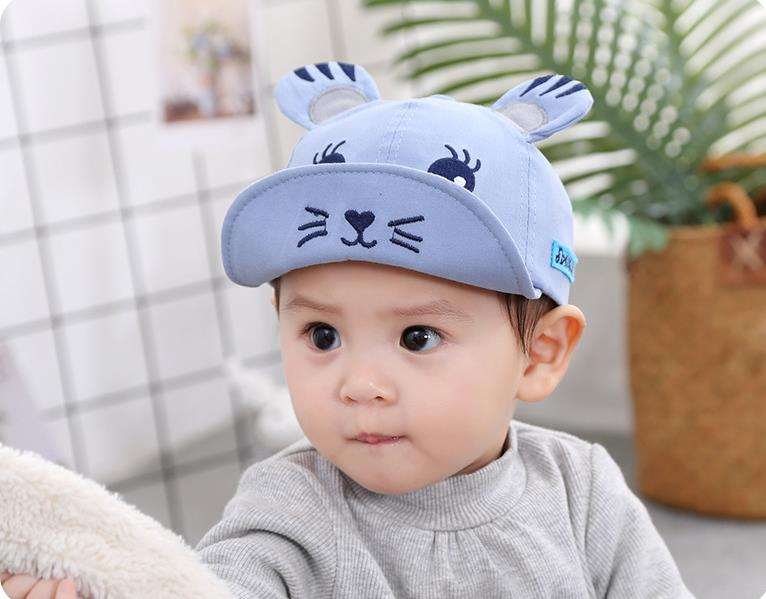 หมวก สีฟ้า แพ็ค 5ใบ ไซส์รอบศรีษะ 48-50cm